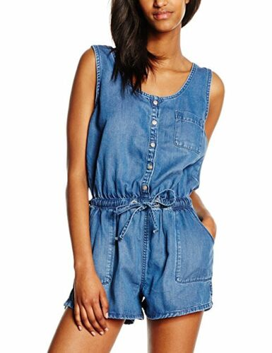 Ex Chainstore Denim Blue Bella Sleeveless Playsuit