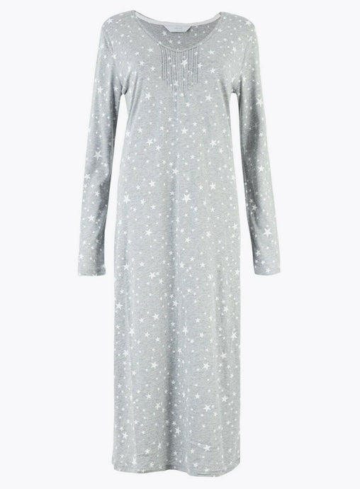 Ex Marks & Spencer Grey Star Print Nightdress