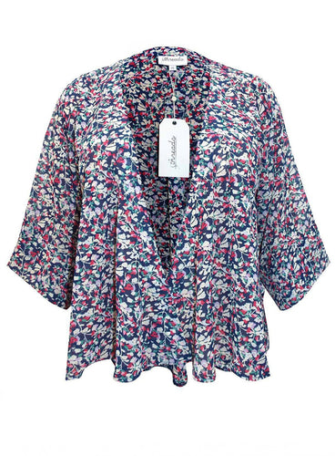 Ex DICKENS & JONES / Threads Plus Size Floral Chiffon Kimono in Sizes 16-26