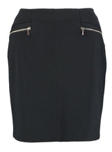 Ex Wallis Ponte Zip Black Mini Jersey Skirt Size 10-14