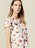 Ex Wallis Ivory Floral Print Shell Top Blouse