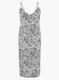 Ex Marks And Spencer Zebra Print Long Nightdress Chemise