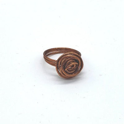 Antique Copper Rose Ring