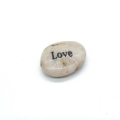 """Love"" Etched River Rock"