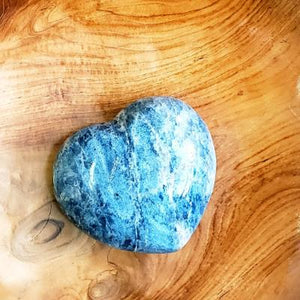 Blue Dumortierite Carved Crystal Heart