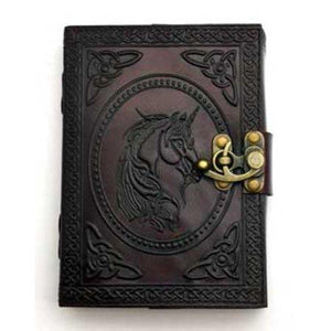 Unicorn Blank Leather Book with Latch