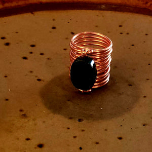 Copper and Jasper Ring