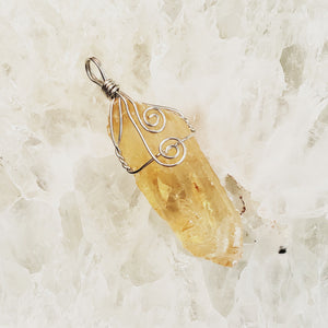 Honey Calcite Pendant