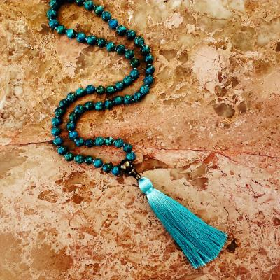 Turquoise Mala with Pyrite Guru Bead