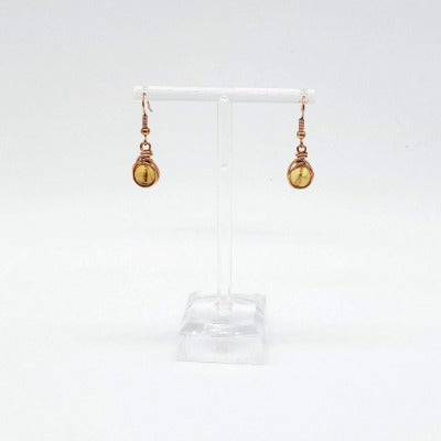 Citrine and Copper Earrings