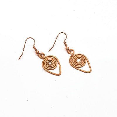 Copper Vortex Earrings