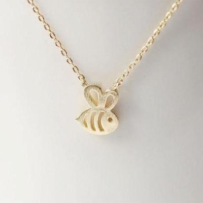 Tiny Bumble Bee Necklace