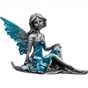 Zinc Fairy on Leaf - Aqua