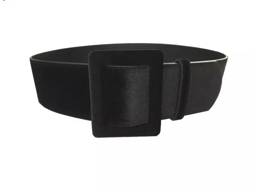 Studio Velvet Belt | Black