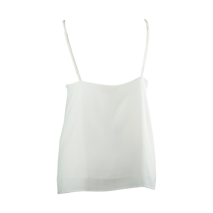 Anya Scalloped Edge Camisole Top in Cream