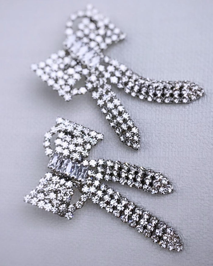 Crystal Bow Earrings