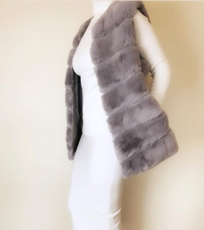 Faux Fur Gilet | Grey