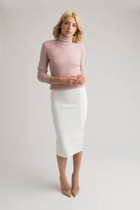Khloe Cream Midi Skirt
