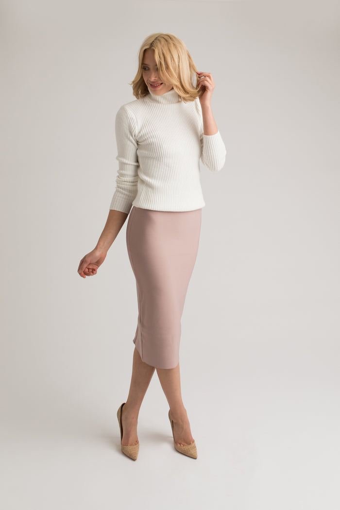 Khloe Blush Pink Midi Skirt