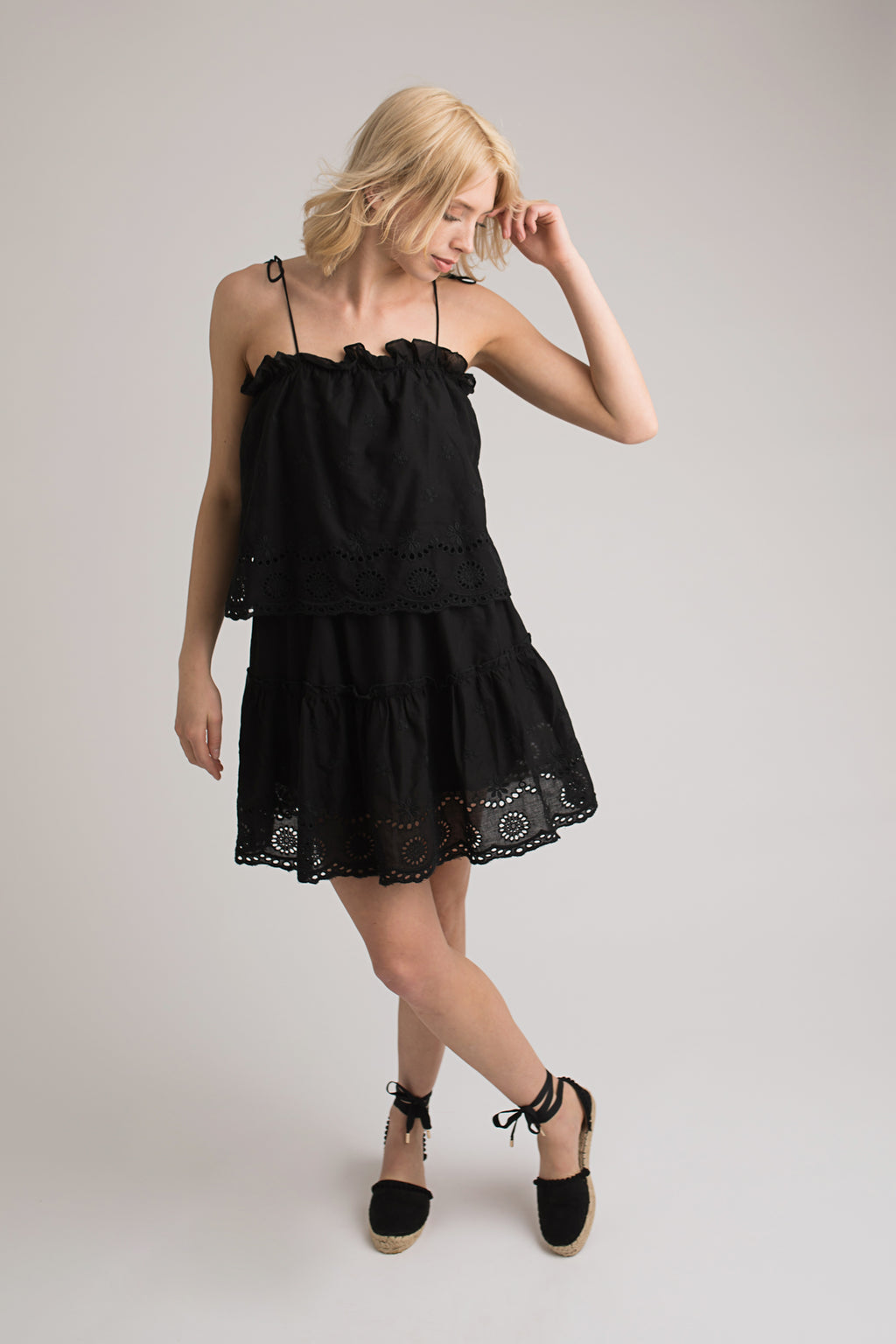 Aria Broderie Anglais Dress
