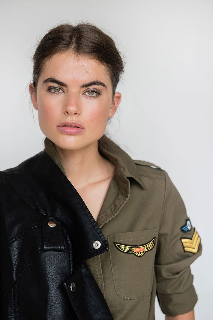 Mica Military Khaki Shirt