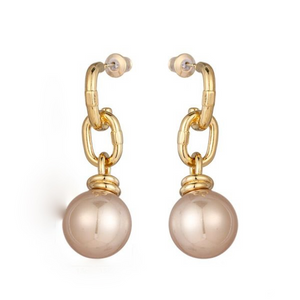 Pearl Drop Earrings | Nude