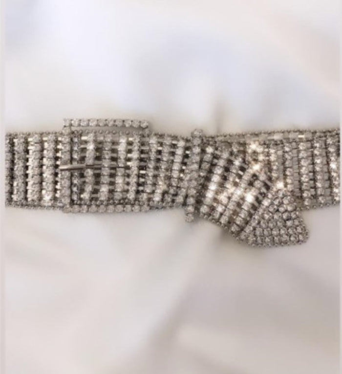 Crystal Silver Belt