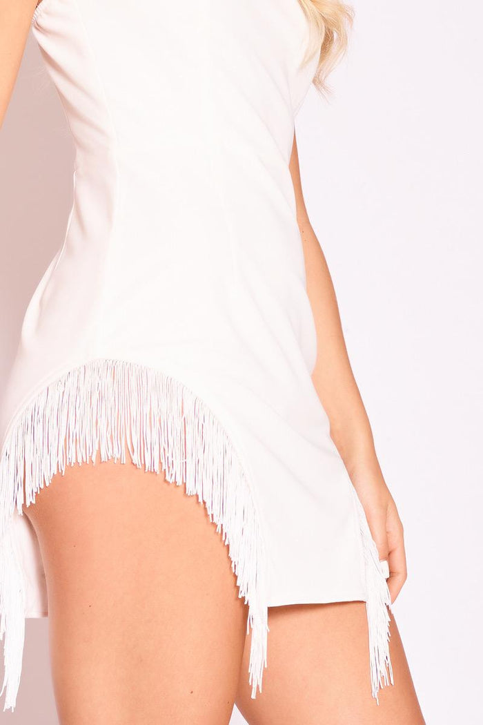 Showgirl White Fringe Dress