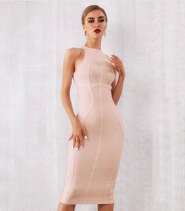 Natalia Blush Nude Bandage Dress