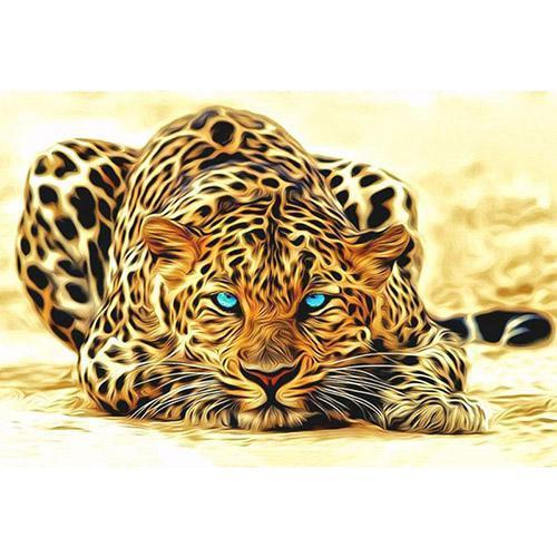 The leopard with the blue eyes (Painting by Numbers)