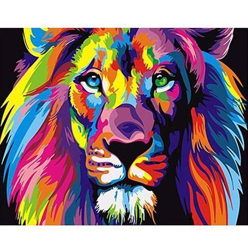 The neon lion (Painting by Numbers)