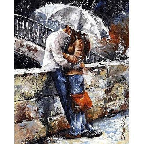 The couple in the rain (Painting by Numbers)