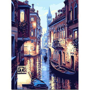 Venice in the evening (Painting by Numbers)