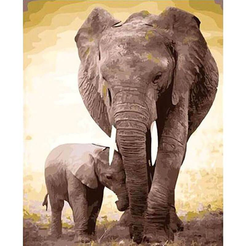The two elephants (Painting by Numbers)