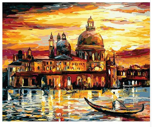Sunset in Venedig (Painting by Numbers)