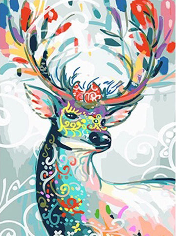 Deer with mask (Painting by Numbers)