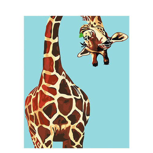 Funny Giraffe (Painting by Numbers)