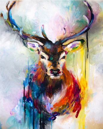 Color deer (Painting by Numbers)