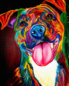 Happy dog (Painting by Numbers)