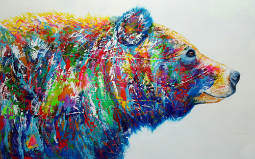 Colourful bear (Painting by Numbers)