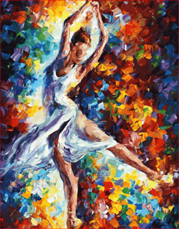 The Ballerina (Painting by Numbers)