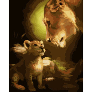Lion family (Painting by Numbers)