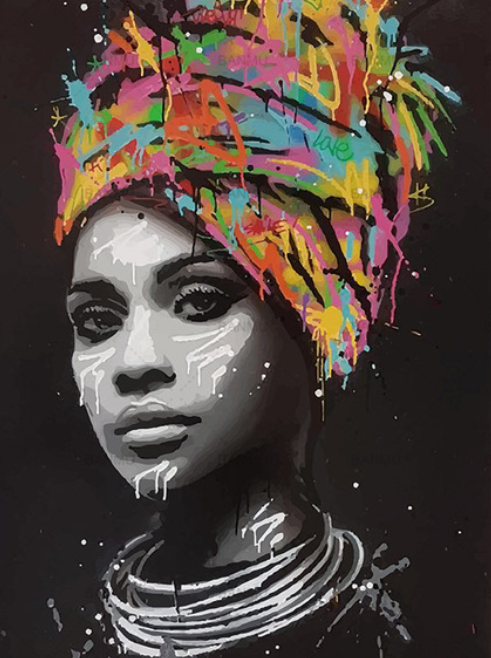 African woman (Painting by Numbers)