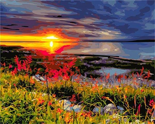Sunset in Ireland (Painting by Numbers)