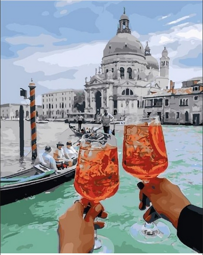 Lady´s day in venice (Painting by Numbers)