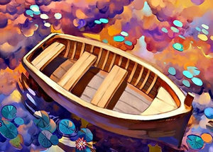 The wooden boat (Painting by Numbers)
