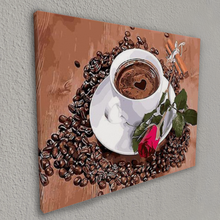 The coffee and the rose (Painting by Numbers)
