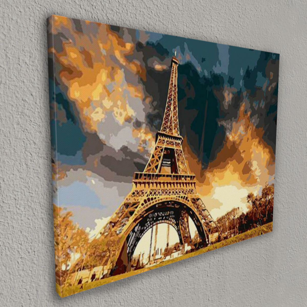 The Eiffel tower (Painting by Numbers) - Drawlify