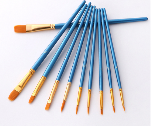 10 Pcs Paint Brush Set