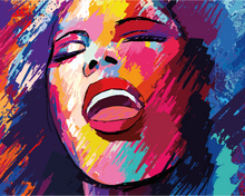 The PopArt Woman (Painting by Numbers)